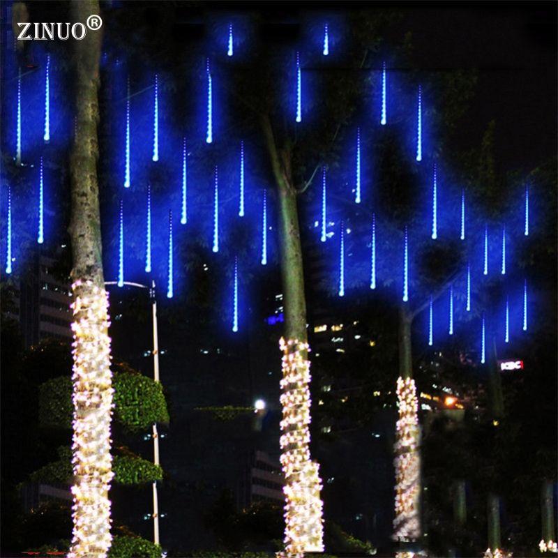 ZINUO Multi-couleur 30 CM Meteor Douche Pluie Tubes AC100-240V LED Lumières De Noël Garden Party De Mariage De Noël De Lumière en plein air