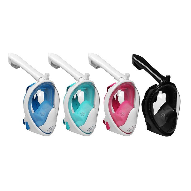 Full Face Swimming Snorkeling Mask Scuba Watersport Anti-fog Anti-Leak Seaview <font><b>Underwater</b></font> Diving Snorkel Set For Gopro Camera