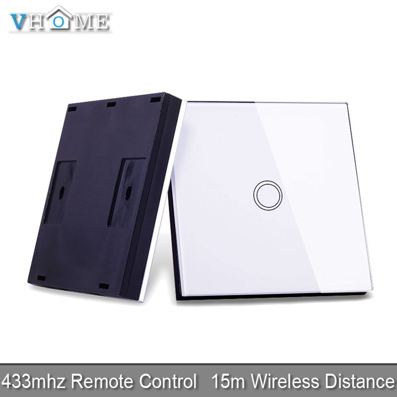 Vhome RF 433MHZ wireless remote control smart Switches ,Switch shape control for Touch switches, garage doors, electric curtains