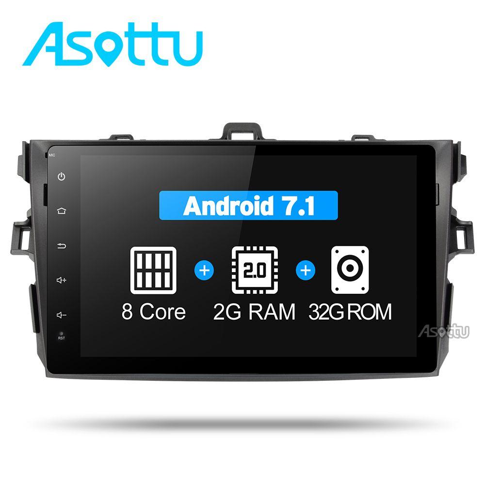 Asottu CLKLL9060 android 7.1 T8 autokonsole autoradiospieler für Toyota corolla 2007 2008 2009 2010 2011 auto dvd gps navigation