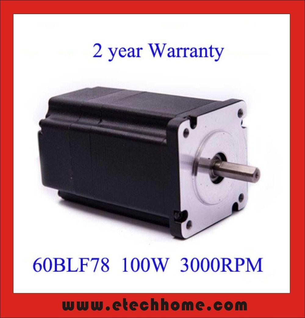 60mm Bürstenlosen Gleichstrommotor 48 V 100 Watt 3000 rpm