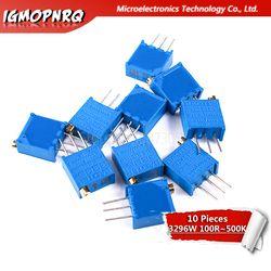 10pcs 3296W series resistanceohm Trimpot Trimmer Potentiometer 1K 2K 5K 10K 20K 50K 100K 200K 500K 1M 100R 200R 500R 3296W 103