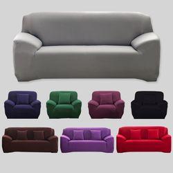 Warna Solid Sofa Penutup Elastis Peregangan Mudah Dicuci Sofa Penutup Di Sofa Sudut Perabot Fleksibel Kursi Cover 1/2 /3/4-seater