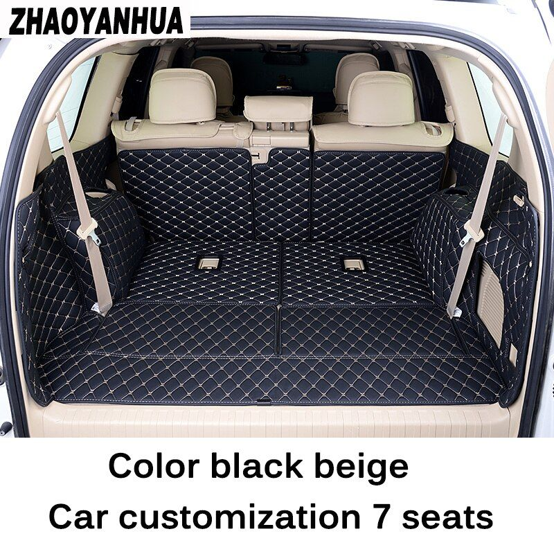 Custom fit car trunk mat for Toyota Land Cruiser Prado 150 5 seats / 7 seats carstyling tray carpet cargo liner