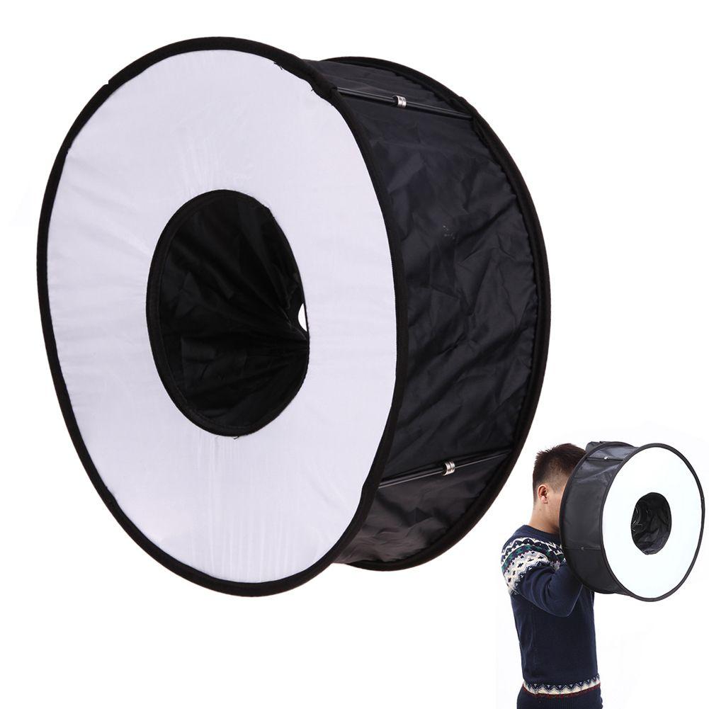 Ring Softbox SpeedLite Softbox Flash Light 45cm Foldable Diffuser Ring Speedlight Soft box for Canon Nikon Speedlight