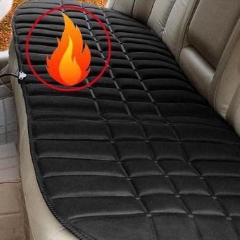 Универсальный 12 В с подогревом сиденья автомобиля чехлы сидений, зима термостат Нагреватель Теплее, 130*49 см Авто Отопление подушки сиденья п...
