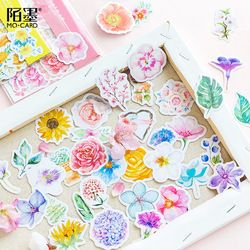 Daylight Flower Sticker Bag Stamp Stickers Adhesive Stickers DIY Decoration Stickers