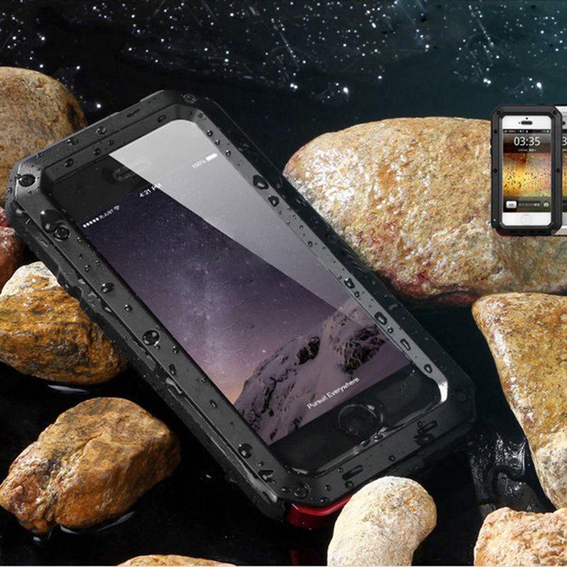 Sports de plein air pour iphone 7 boîtier en métal mode pour iphone 6 boîtier en alliage 5G 6G 7G 5 5 S 6 S 6 7 Plus 6 Plus 7 Plus 7 Plus housse de téléphone Mobile