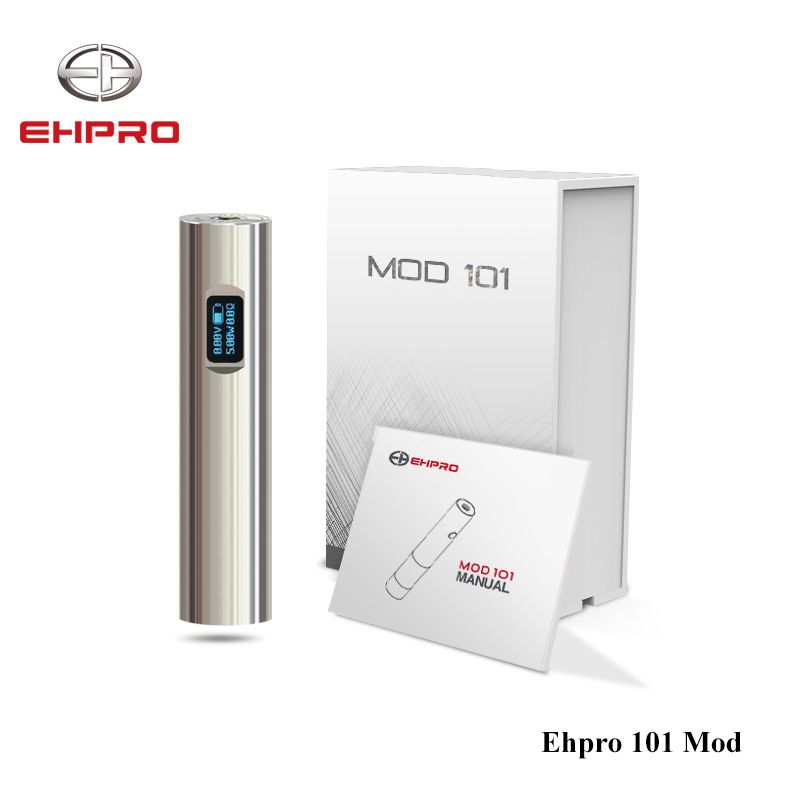 Original 50W Ehpro 101 Mod 18650&18350 battery Mech Mod NITC/TITC/SSTC/Wattage/By pass Mode E Cigarette Mechanical Mod Vape