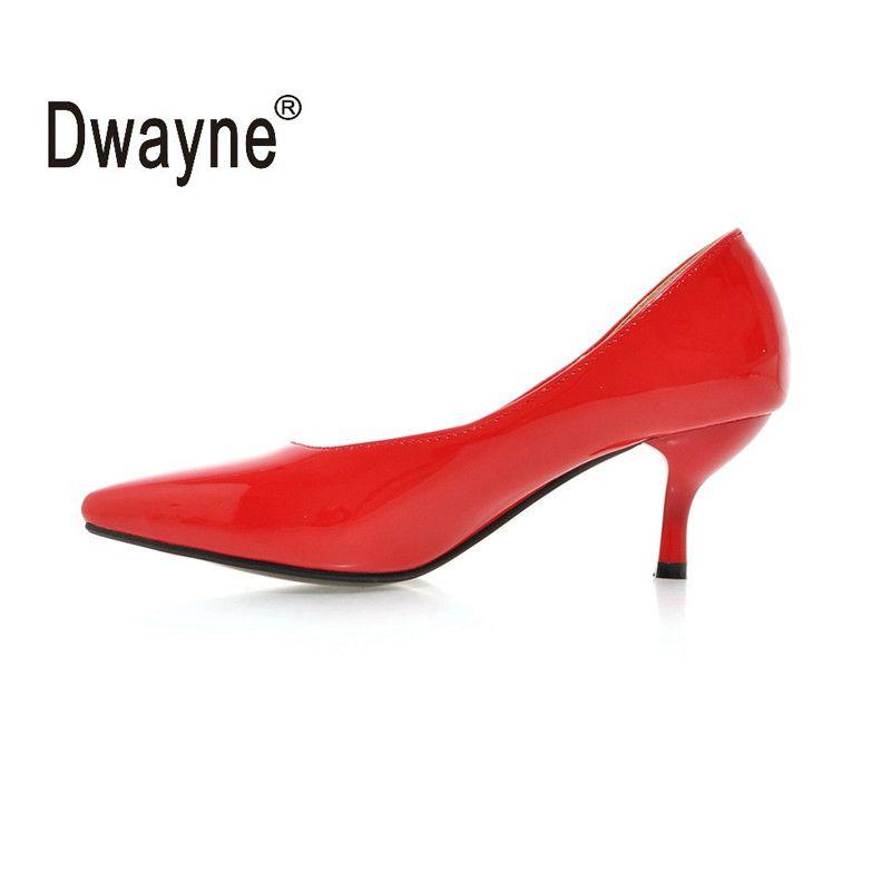 Big Size Women's Shoe 6cm High Heels Pumps HU Party Shoes For Women PU Wedding Shoes A05-1