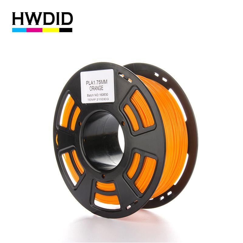 HWDID 3D Printer Filament PLA 1KG 1.75mm material  Plastic Rubber Consumables Material for 3d Pen Printer
