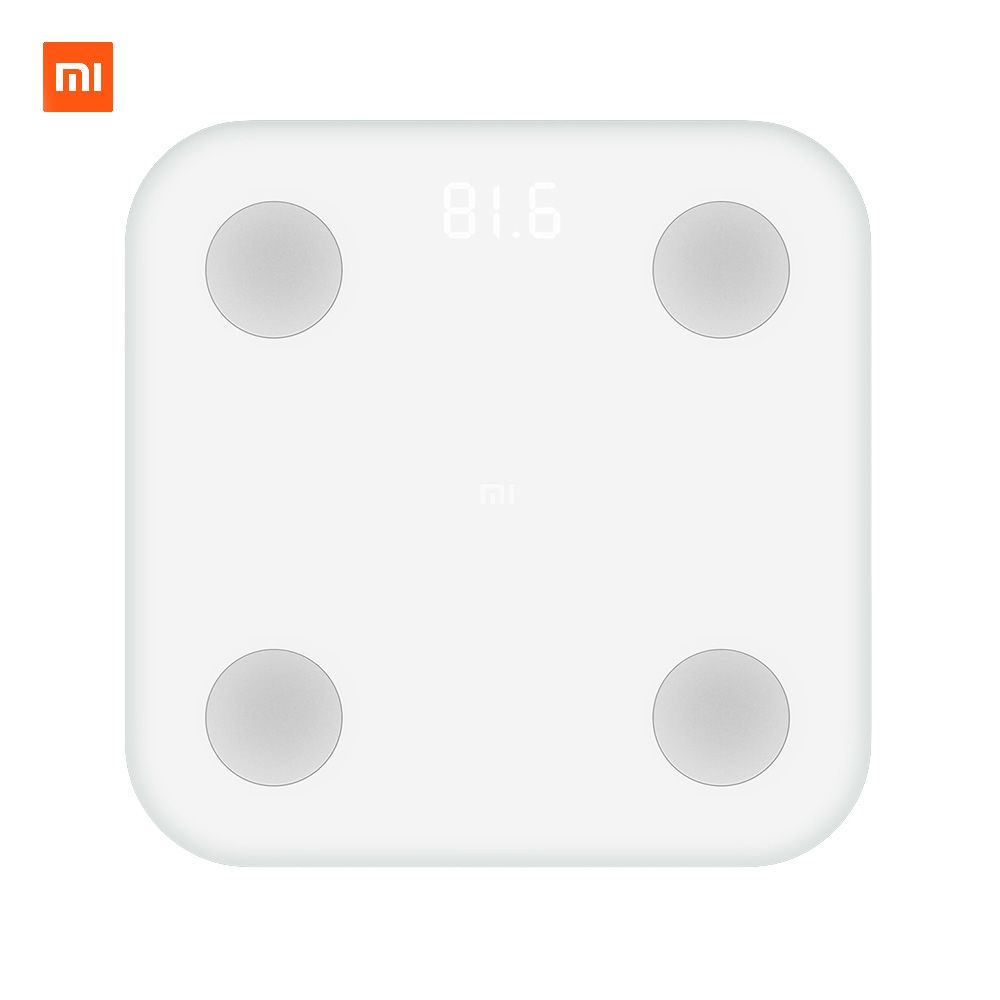 Xiaomi Mi Smart Composition Scale 2 <font><b>Weight</b></font> Health Mifit APP Body Monitor Hidden LED Display And Big Feet Pad Body Fat BMR Test