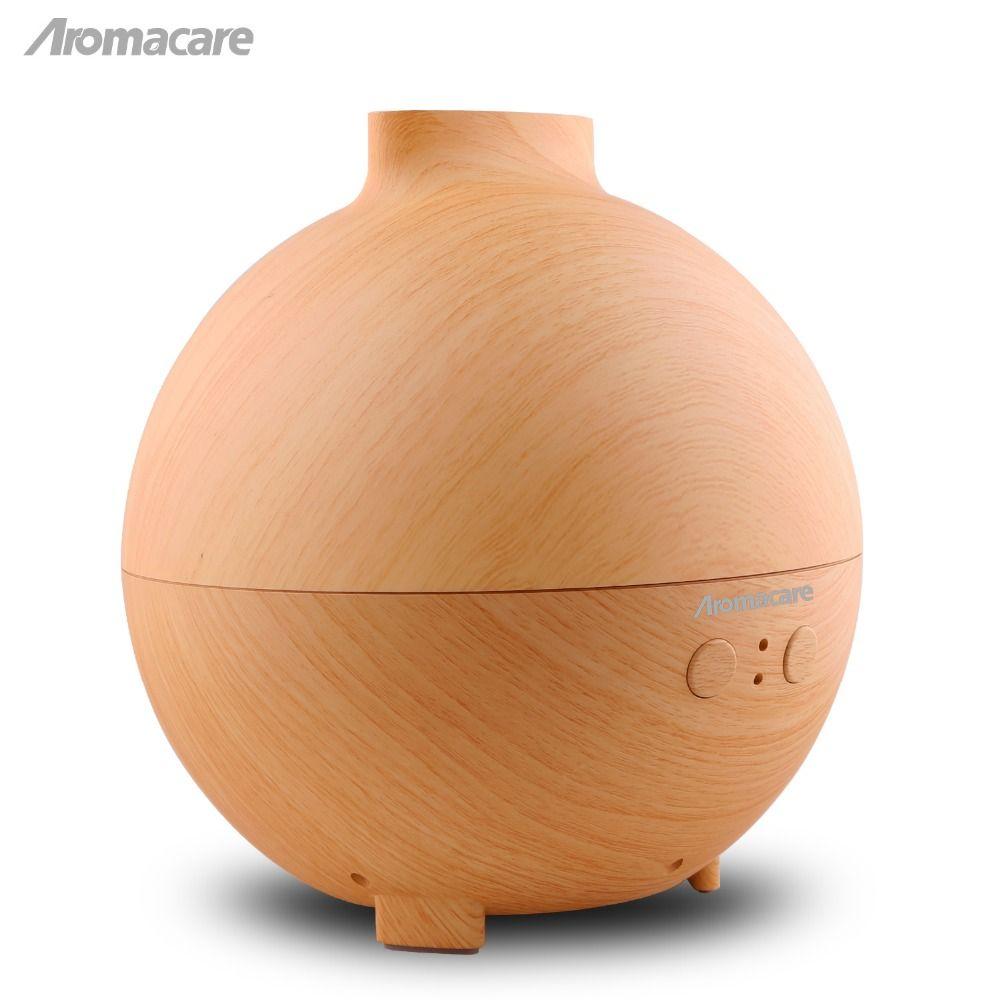 Aromacare 600mL UFO Ultrasonic Aroma Diffuser Wood Grain Aromatherapy Diffuser Essential Oil Diffuser Aroma Lamp for Home SPA