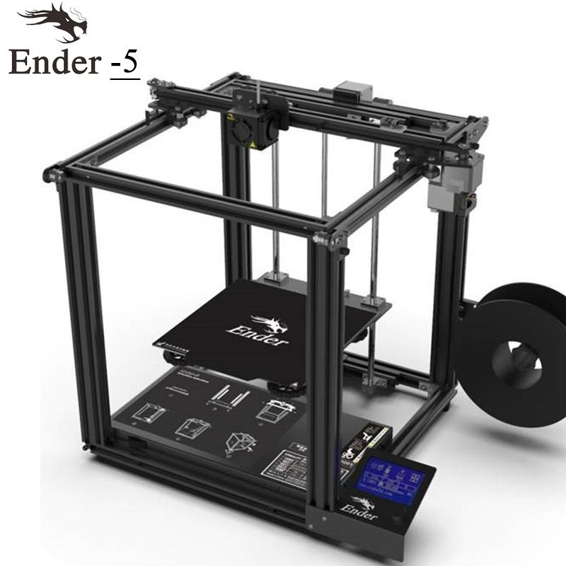 2018 3D printer Ender-5 V1.1.3 mainboard Cmagnetic build plate,power off resume enclosed structure stable Power Creality 3D
