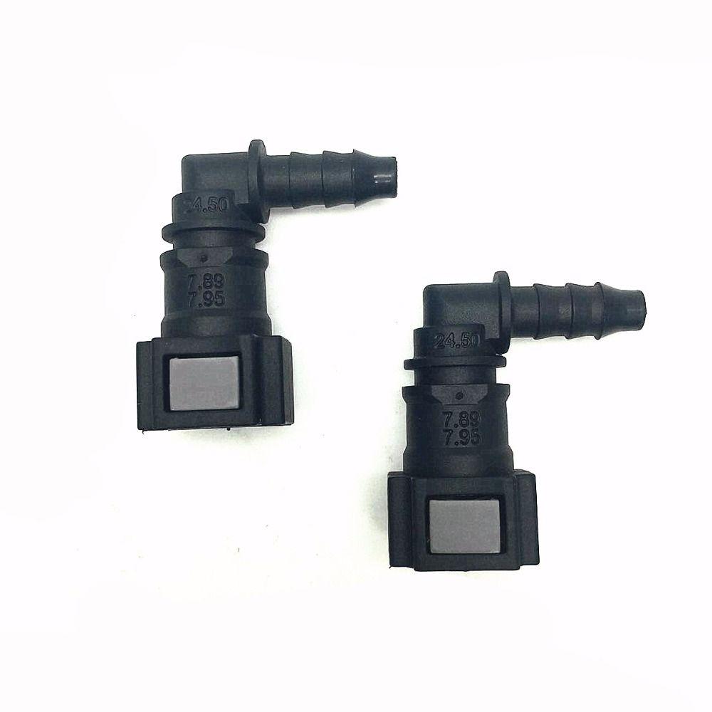 2pcs Fuel Pump Assembly Quick Connector Car 7.89mm 90 Deg Quick Connectors for Inner 6mm outer 8mm Fuel Hose Connector