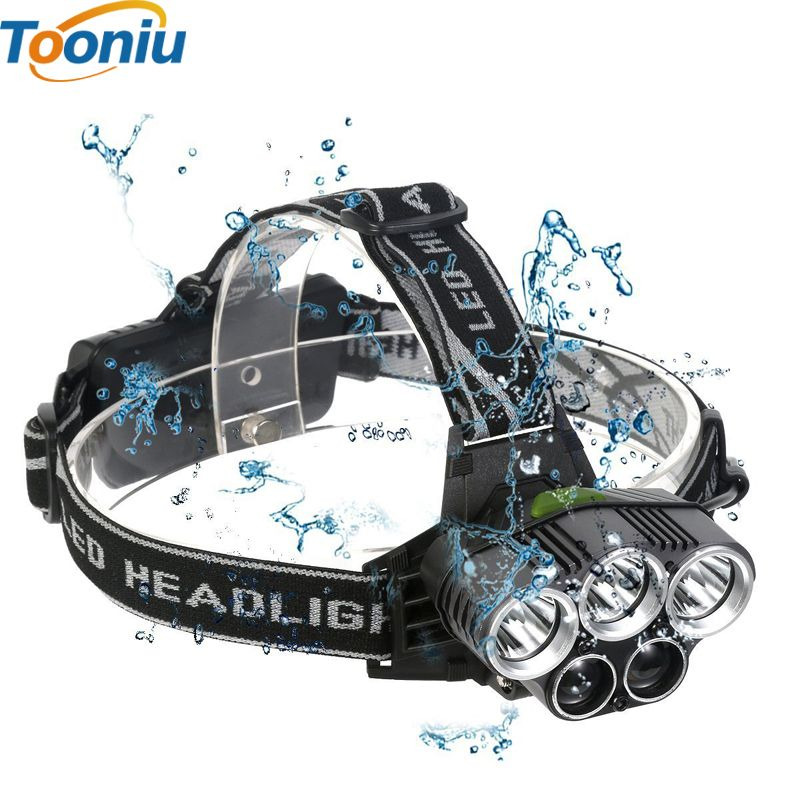 5 CREE led <font><b>headlamp</b></font> XM-L T6 Q5 headlight 15000 lumens led head lamp camp hike emergency light fishing outdoor equipment