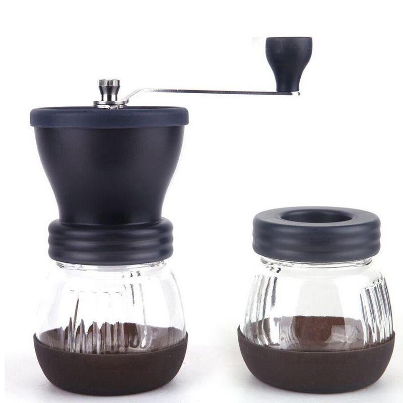 Manual Ceramic Coffee Grinder ABS Ceramic core Stainless Steel Burr grinder Kitchen DIY Mini Manual Hand Coffee Grinder