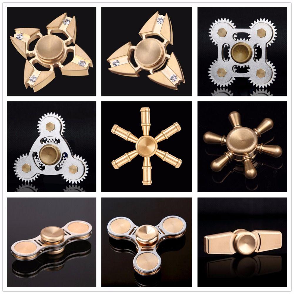 Fidget DODOELEPHANT Dedo Del Metal Spinner Spinner Spinner Giro Con Caja de Metal de Mano Foco de Estrés Aliviar Juguete