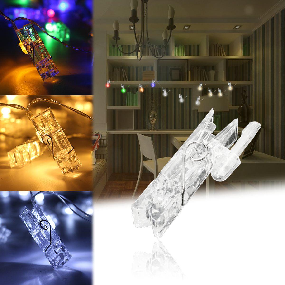 4 м Мини 40 LED Клип строки Батарея автомобиля Рождество огни Новый год свадьбу украшения дома гирляндой Батарея