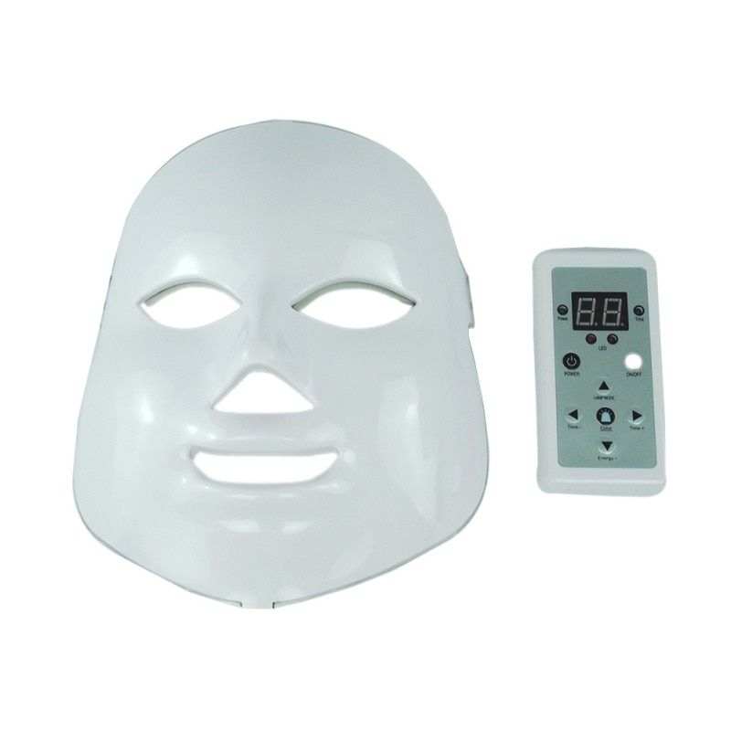 LED Facial Mask Wrinkle Acne Removal Face Beauty Spa Therapy Photon Light Skin Care Rejuvenation Instrument 7 Colors P7