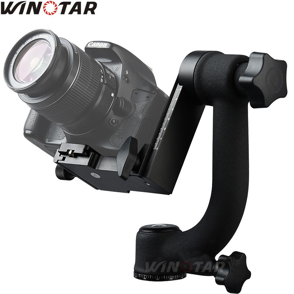 Pro 360 Degree Vertical Panorama Gimbal Tripod Head 1/4