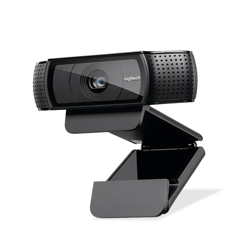 Logitech Webcam Pro HD C920e, Video Llamada y Grabación de pantalla ancha, 1080 p Cámara, Webcam de escritorio o Portátil, C920 versión de actualización