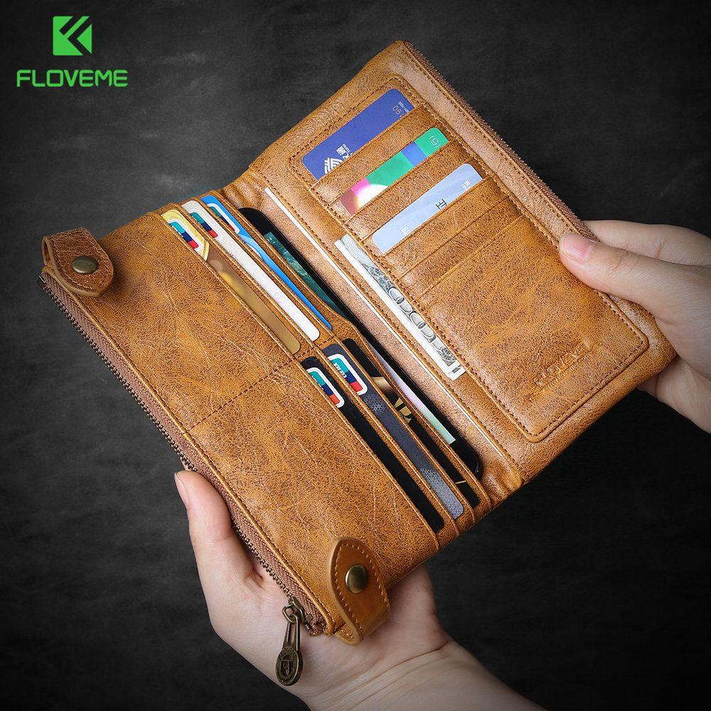 FLOVEME sac portefeuille téléphone étui pour iphone X 8 7 6 6 s Plus 5 5 s SE pochette en cuir rétro pour Samsung Galaxy S5 S6 S7 edge S8 couverture