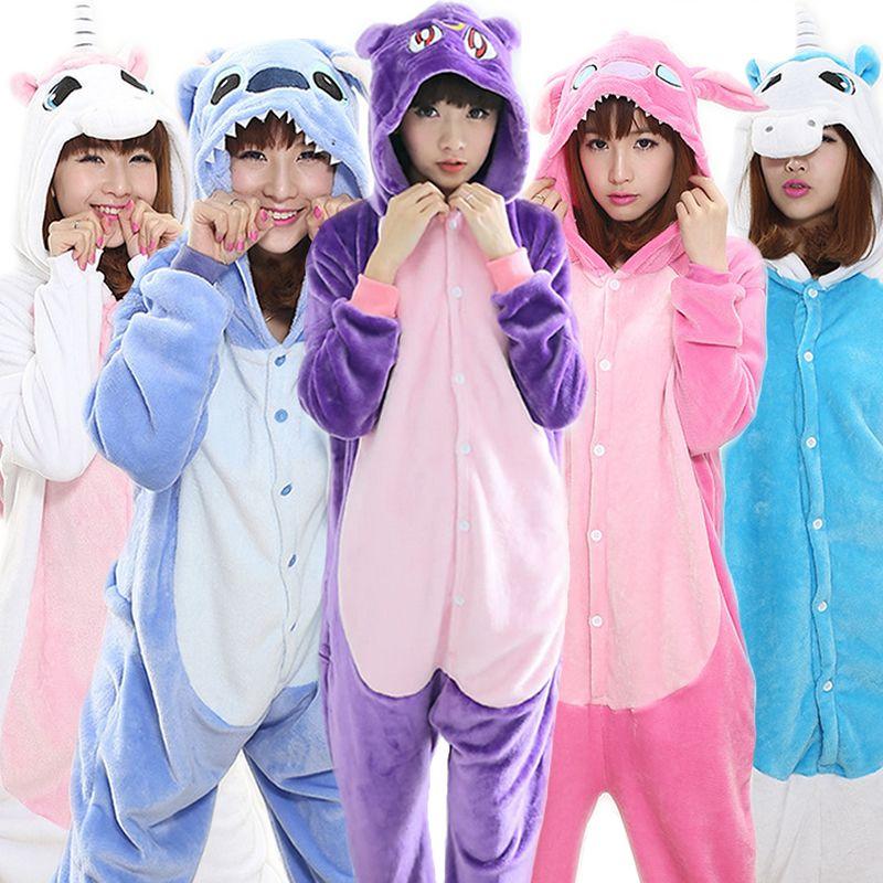 Christmas stitch panda tigger onesie unicorn pajama sets flannel women pajama onesies adults children onesies Unisex cosplay