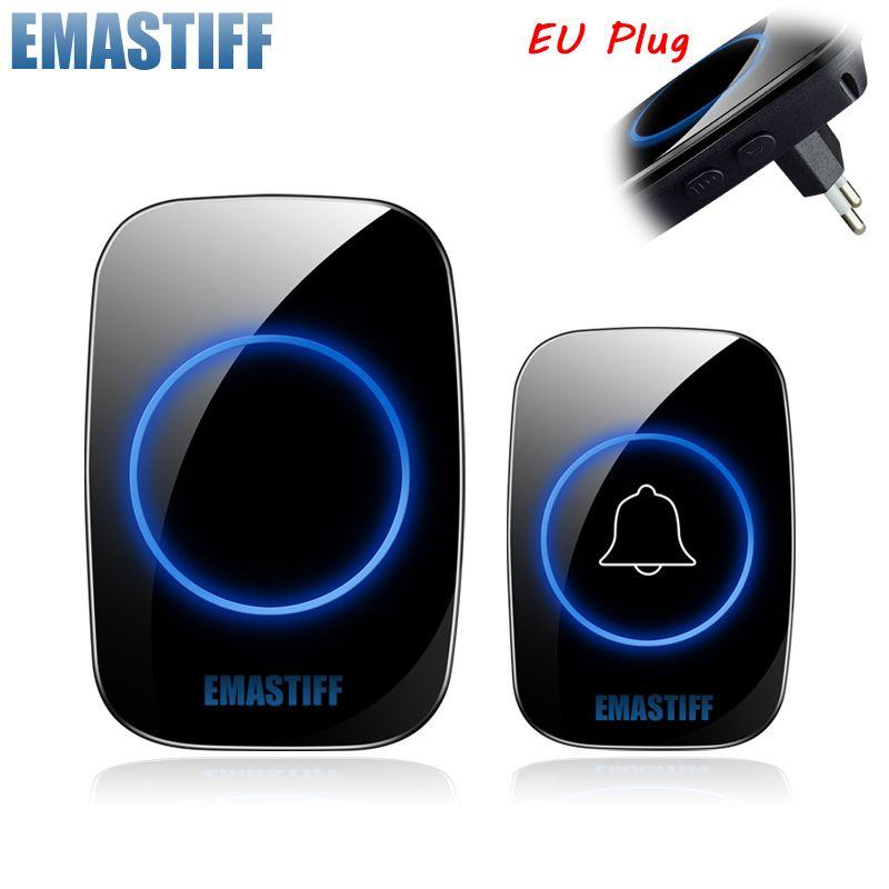 Nouvelle maison bienvenue sonnette intelligente sans fil sonnette étanche 300M à distance EU AU royaume-uni US Plug smart porte cloche carillon