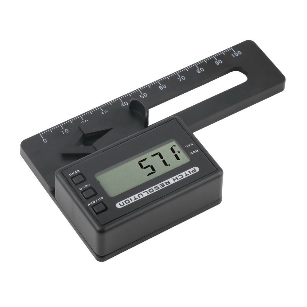 1pcs RC Helicopter Digital Pitch Gauge LCD Display Blades Degree Angle for ALIGN AP800 TREX 450-700 5J99