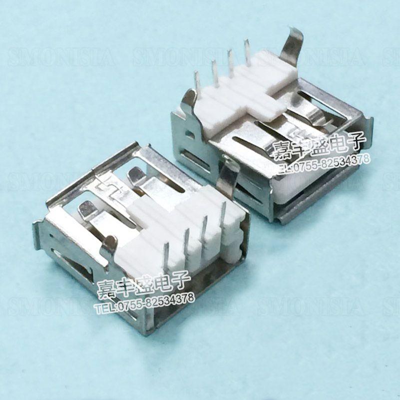 50pcs-5000pcs USB Female Socket A Type 90 Degree Elbow Pin USB Connector
