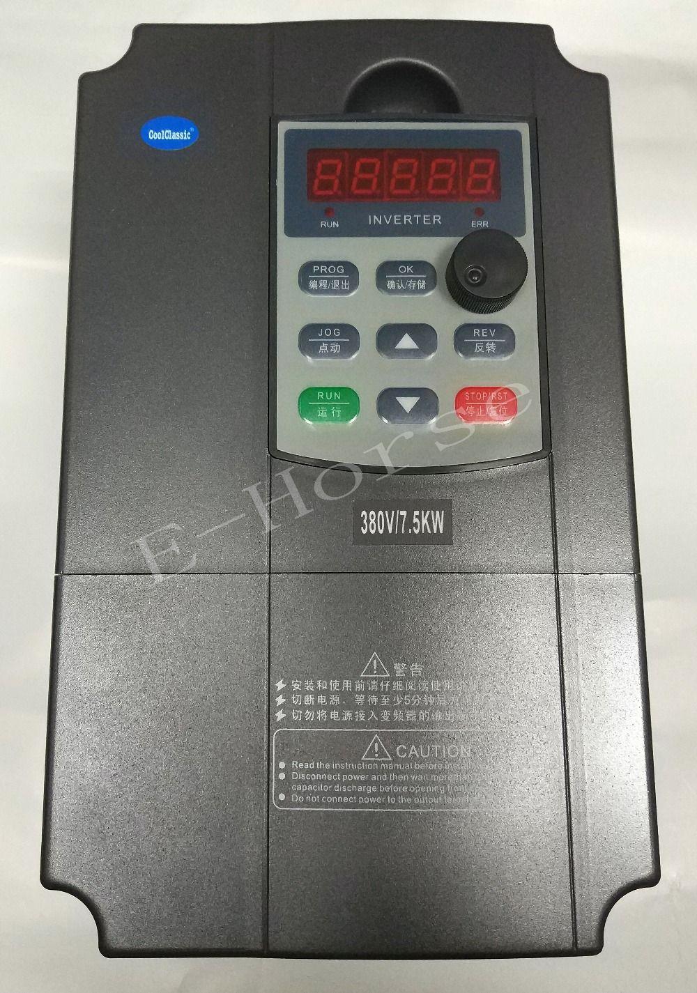 VFD CoolClassic Inverter Converter 380v 7.5KW inverter three phase power warranty 18 month