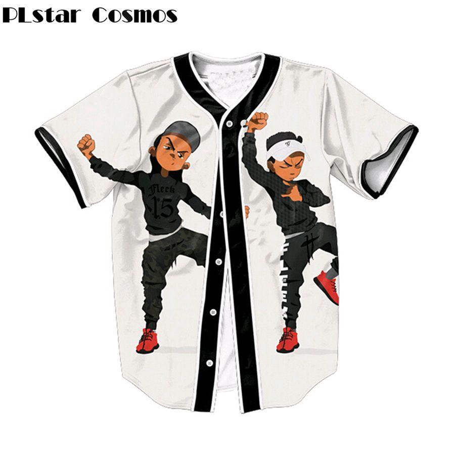 PLstar Cosmos Riley Hit sie Leute Dance print kurzarm baseball shirts harajuku Männer hip hop t-shirt tops plus größe S-3XL