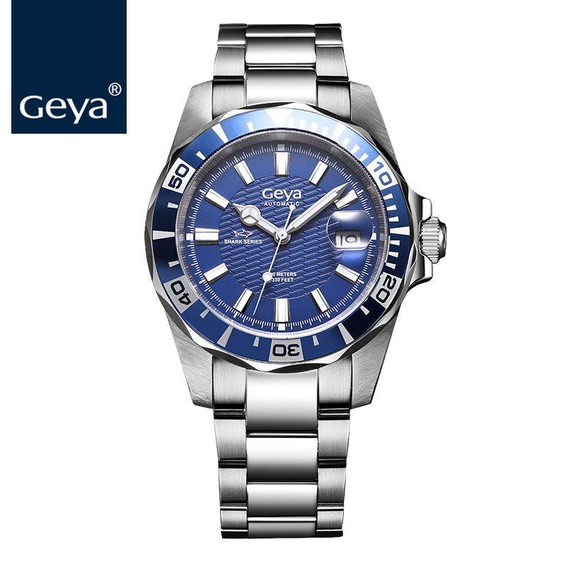 Geya Hot Sale Mens Watches Top Brand Luxury Sapphire diver 100M Automatic Mechanical Men Sports Watch RLX Relogio Masculino 2017