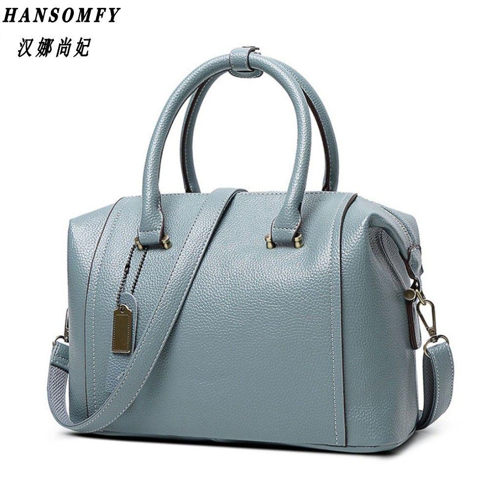 100% echtem leder Frauen handtaschen 2018 Neue weibliche tasche große kapazität damen hand schulter handtasche diagonal mode wilden tasche