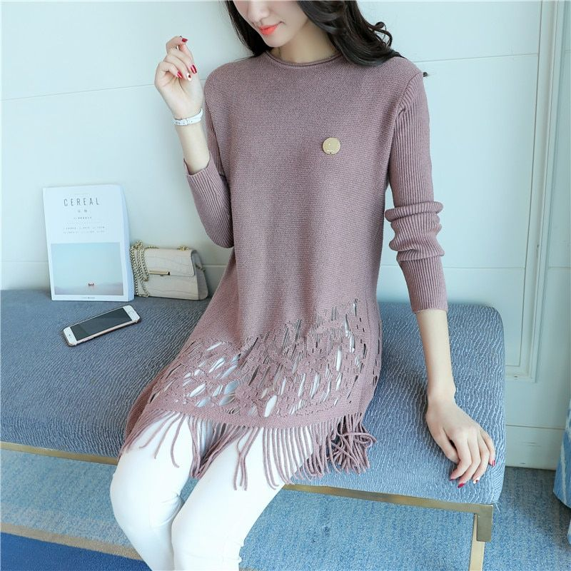 In the spring of 7236 Korean New Women's sweater 43-5 color