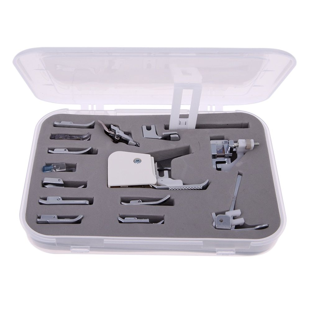 Universal 15PCS Sewing Machines Presser Feet Foot Kit Set Sewing Machine Parts Feet Press for Singer Janome Brother