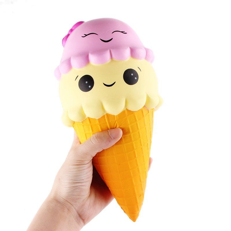 SanQi ElanSoft Ice Cream Cone 22cm PU Foam Slow Rising With Packaging Collection Gift Decor Soft Toy Phone Straps