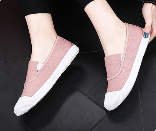 2018 autumn new classic canvas big virgin flat low cut soft bottom casual shoes
