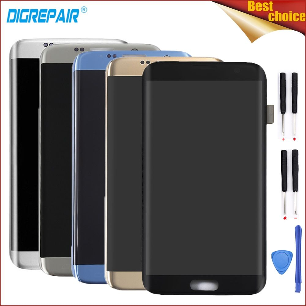 Five Colors For Samsung Galaxy S7 edge G935F G935T G935A G935FD Cellphone LCD Display Touch Screen Digitizer Assembly Parts+Tool