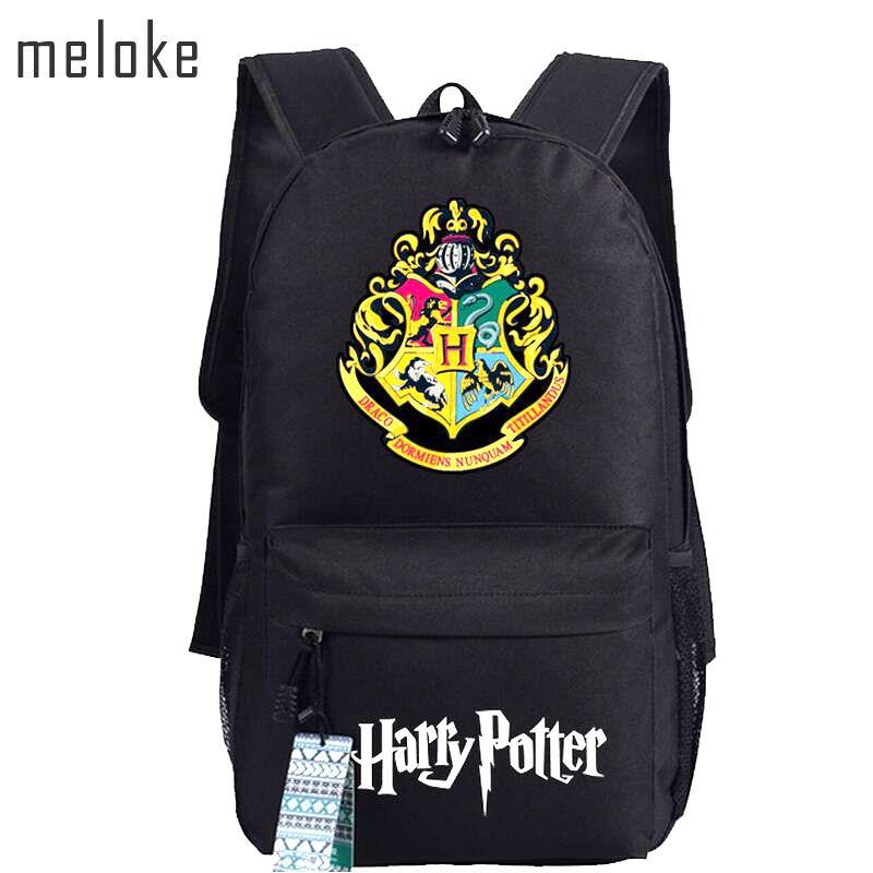 Meloke 2018 Harry Potter School Bags Backpacks Fashion Shoulder Bag Rucksack Students Backpack Travel Bag Mochila Escolar