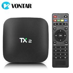 VONTAR TX2 2 Гб 16 GB Rockchip RK3229 Android 6,0 ТВ коробка Bluetooth 2,1 4 K 60tps 2,4 ГГц Wi-Fi Медиаплеер Smart BOX PK Z28