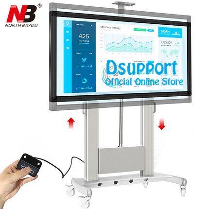 NB TW 100 Motorisierte Lift Bildschirm Heavy Duty TV Montieren Warenkorb Passt Meisten 60-100 zoll Flache Panel LED LCD TV Laden 134kgs 300lb