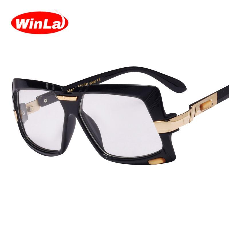 Winla Square Glasses Frame Transparent <font><b>Lens</b></font> Women Men New Fashion Vintage Style Nerd Accessories Unisex Optical Eyewears WL1011