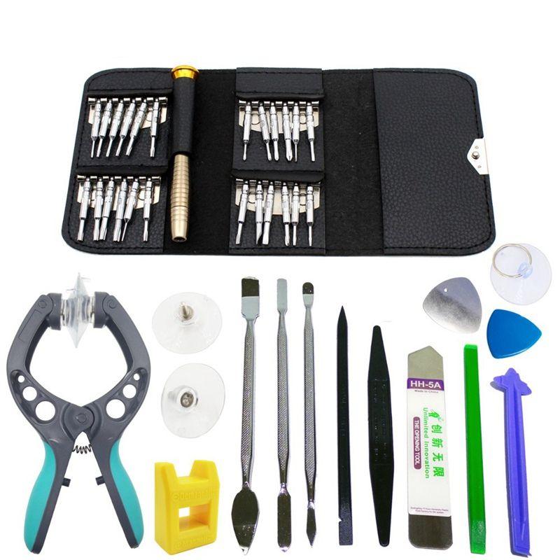 Portable 38 dans 1 Écran D'ouverture De Réparation Outils Tournevis Pince Pry Démonter Outils set Kit pour l'iphone pour Samsung Smart téléphones