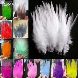 17 couleurs! haute qualité blanc et teinté 20 pc coq plumes, 4-6