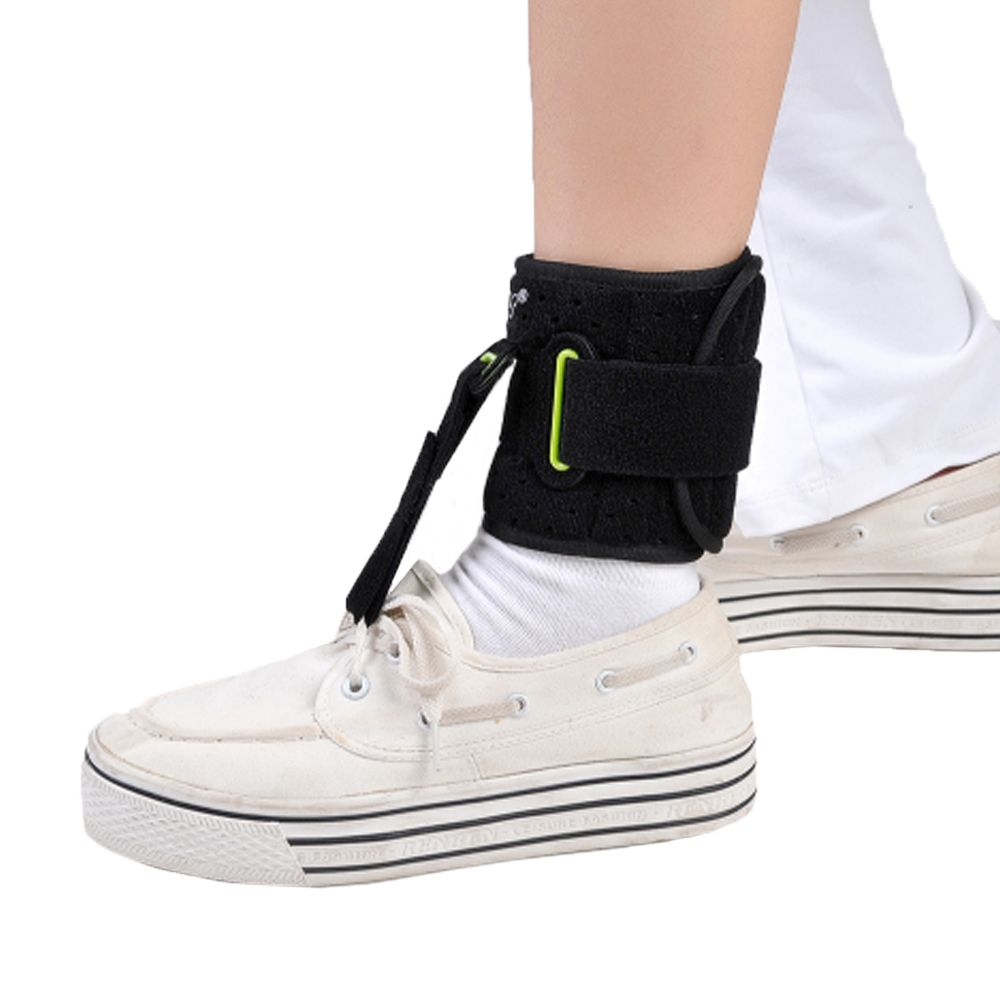 Adjustable Drop Foot Support AFO AFOs Brace Strap Elevator Poliomyelitis Hemiplegia <font><b>Stroke</b></font> Universal Size