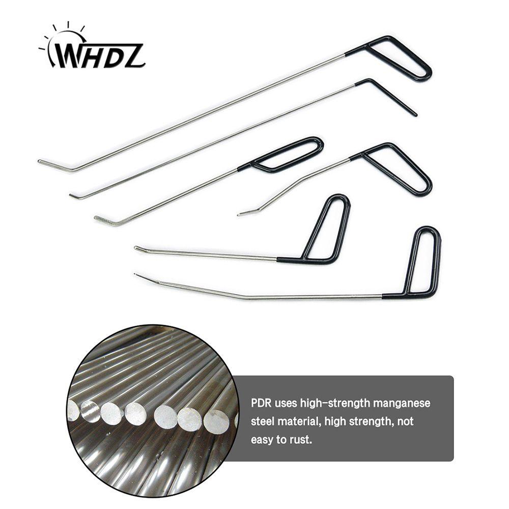 WHDZ 6PCS PDR Tool Kit - Perfect for Door Dings Hail Repair and Dent Removal POD Hook - Dent Repair Tool Set (C)