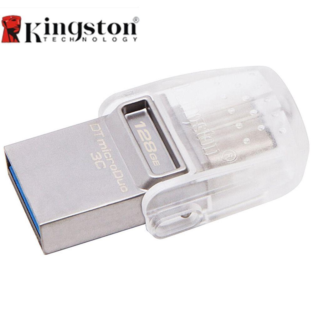 Kingston DataTraveler MicroDuo 3C 128 GB USB3.1 Type-C OTG Double USB Flash Drive Pen Memory Stick pour Nouveau MacBook 12