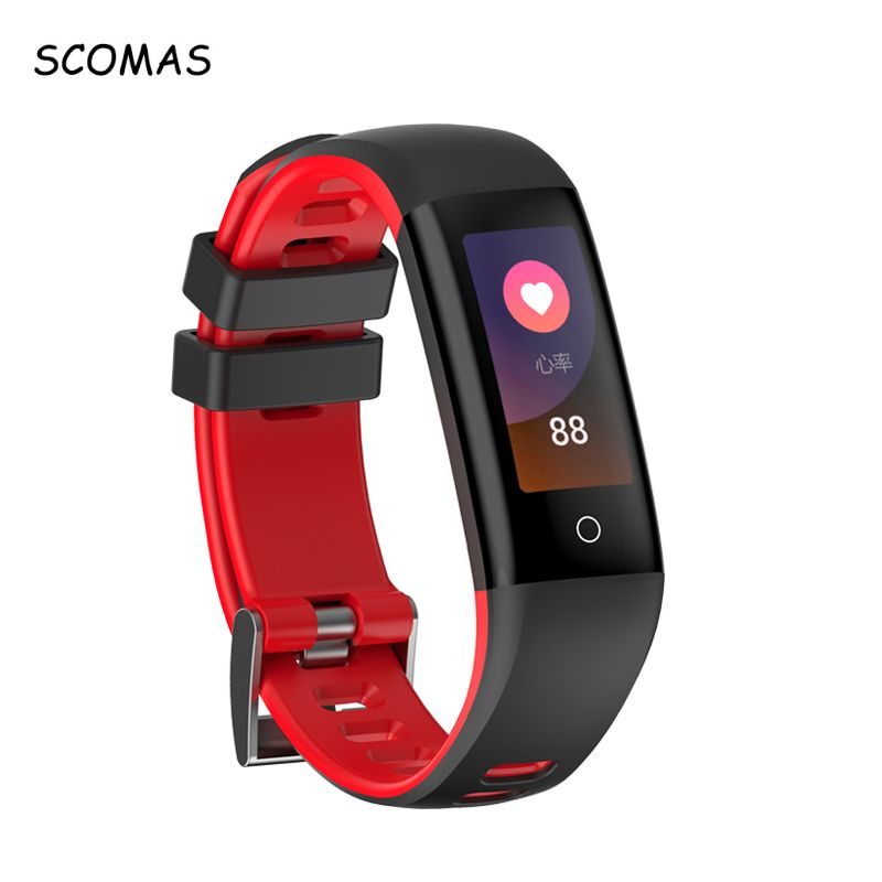 SCOMAS G16 Bluetooth Smartband Heart Rate Monitor Sports Fitness Activity Tracker Color Display Smart Wristband for Android IOS